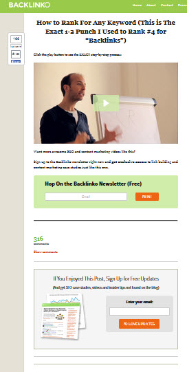 backlinko squeeze page