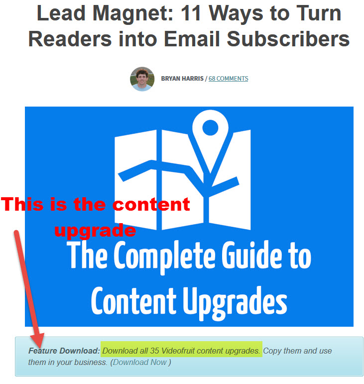 content upgrades example