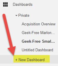 New analytics dashboard
