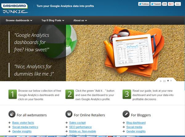 google analytics dashboard junkie