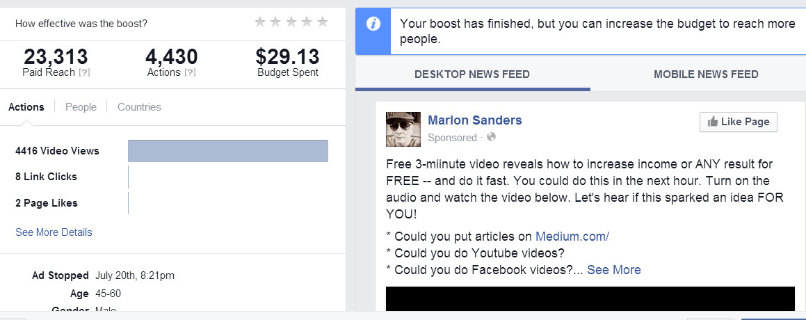 videos ads for facebook example